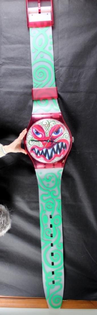 Kenny Scharf Monster Wall Clock (b.1958)