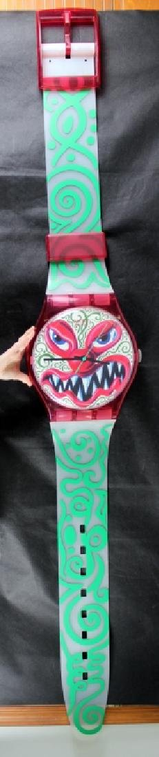 Kenny Scharf Monster Wall Clock (b.1958) - 2