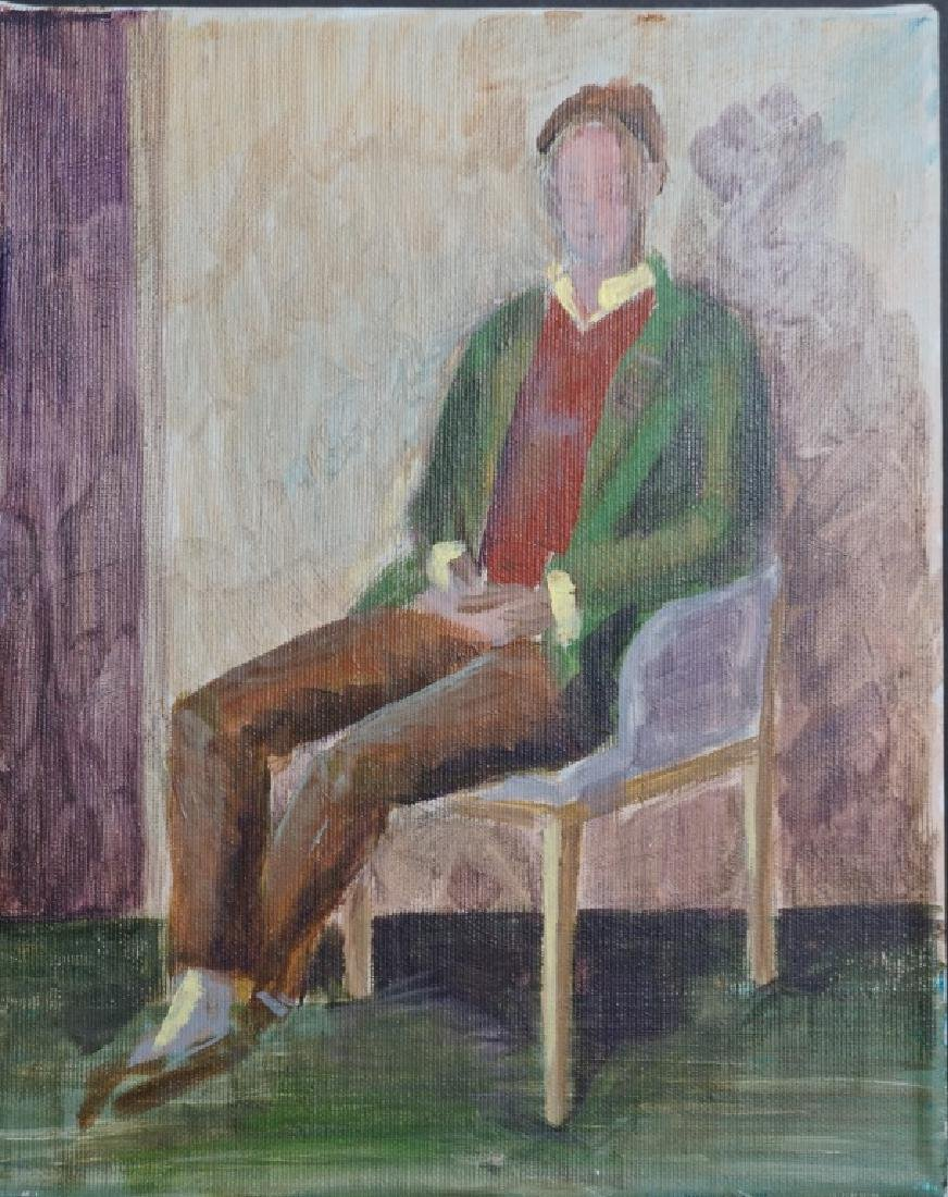 Tim Hunt Self Portrait Oil on Canvas