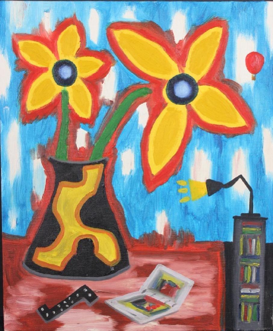"Roger Pedrick Mouth Artist (b.1956) ""Flowers"""