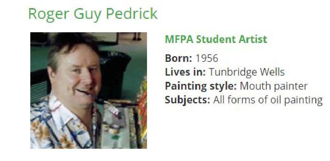 "Roger Pedrick Mouth Artist (b.1956) ""Flowers"" - 3"