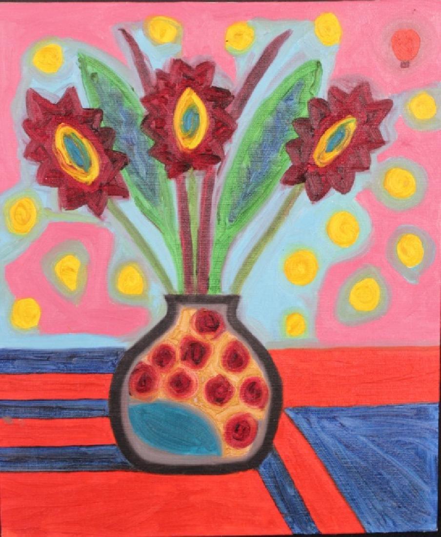 """Roger Pedrick  Mouth Artist (b.1956)""""Flower Spots"""""""