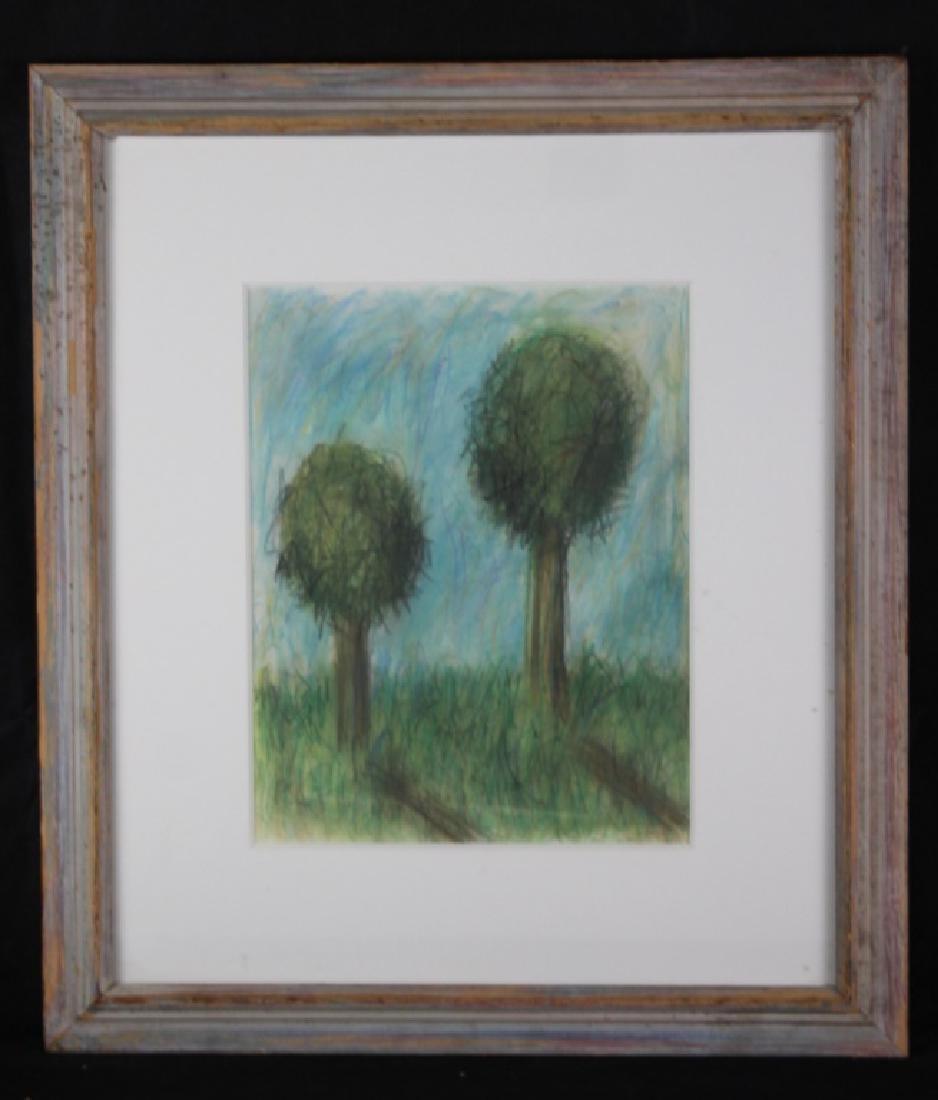 Tama Janowitz Pastel Two Trees