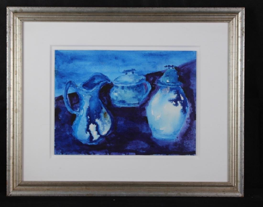 Tama Janowitz Watercolor Blue Tableware