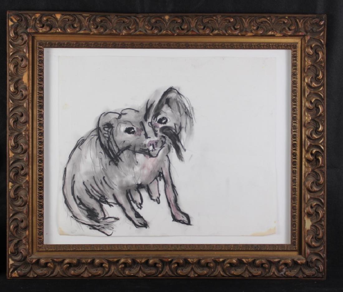 """Tama Janowitz Original Art """"Chinese Crested Dog"""""""
