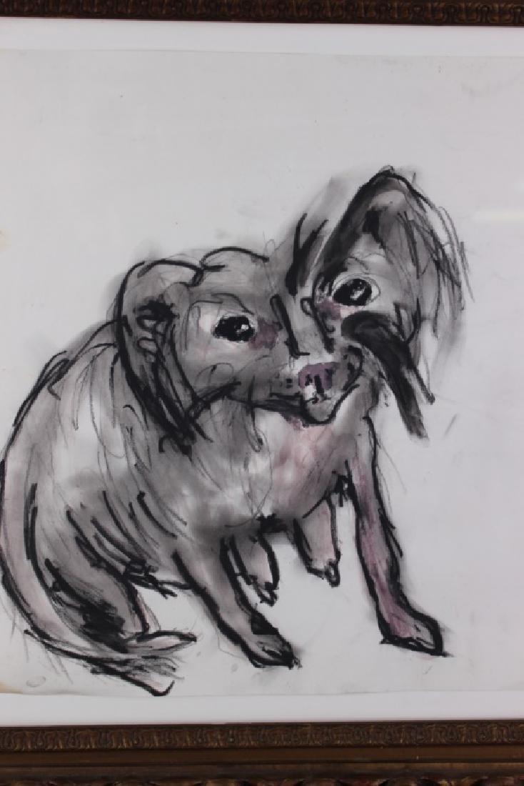 """Tama Janowitz Original Art """"Chinese Crested Dog"""" - 2"""