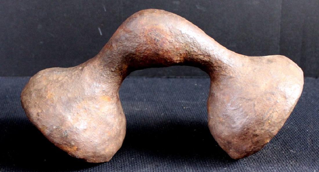 Modern Iron Sculpture/Bookend Signed - 3