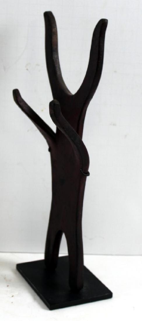 Found Objects Art Metal Devil Figure Sculpture - 2