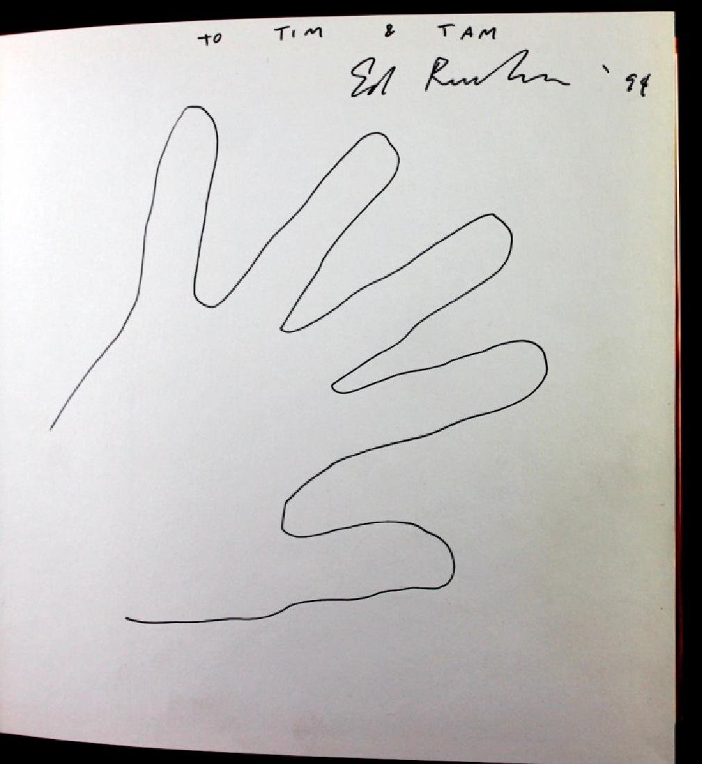 Edward Ruscha (b.1937) Drawing in Book & Photo - 3