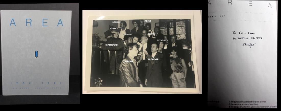 AREA signed book Jennifer Goode/ Warhol Basquait