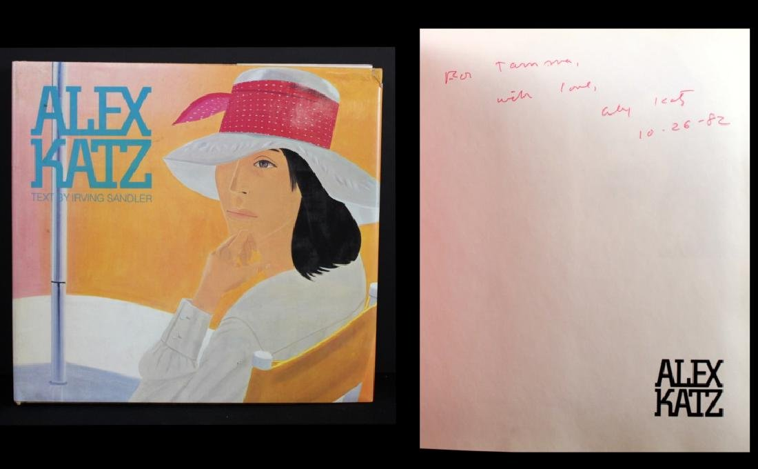 Alex Katz Signed and Inscribed Book 1982