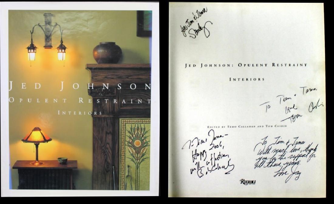 Jed Johnson Signed Book Cushin, Johnson, Colacello