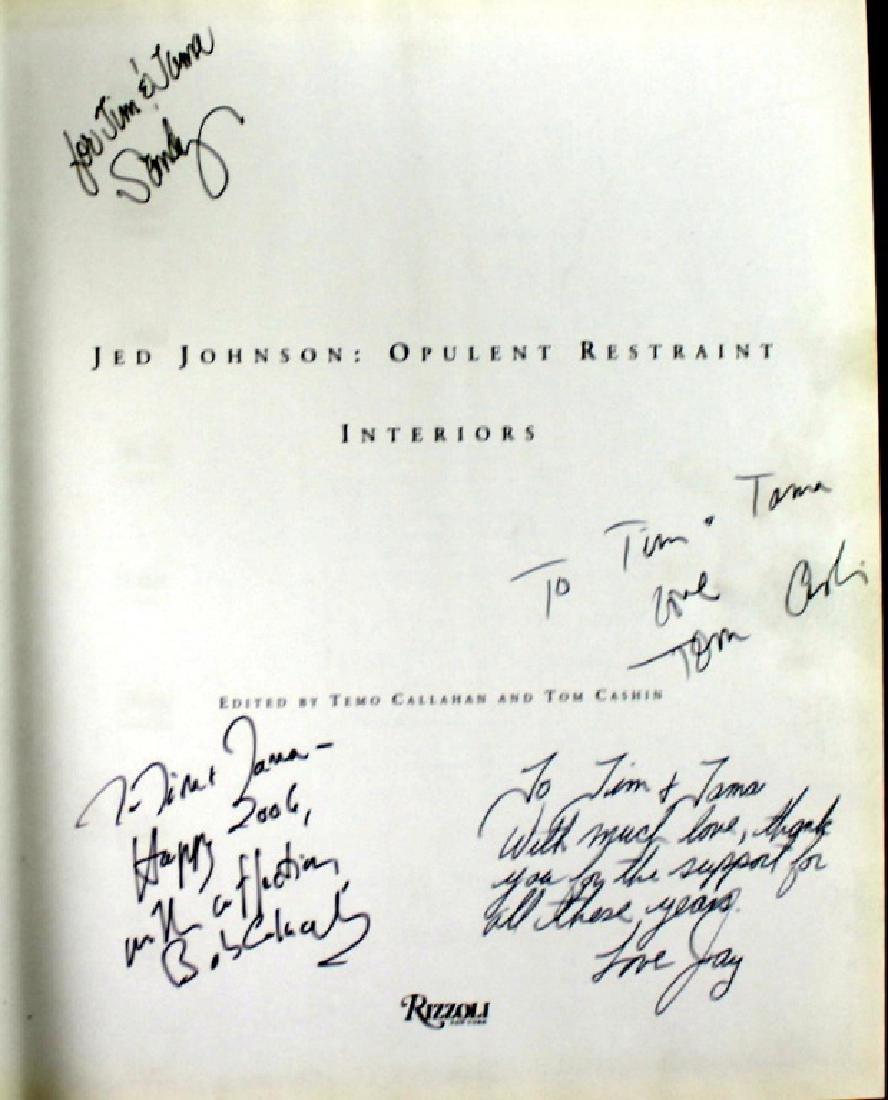 Jed Johnson Signed Book Cushin, Johnson, Colacello - 3
