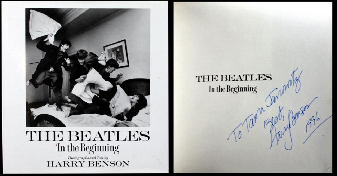 Harry Benson The Beatles Inscribed Book