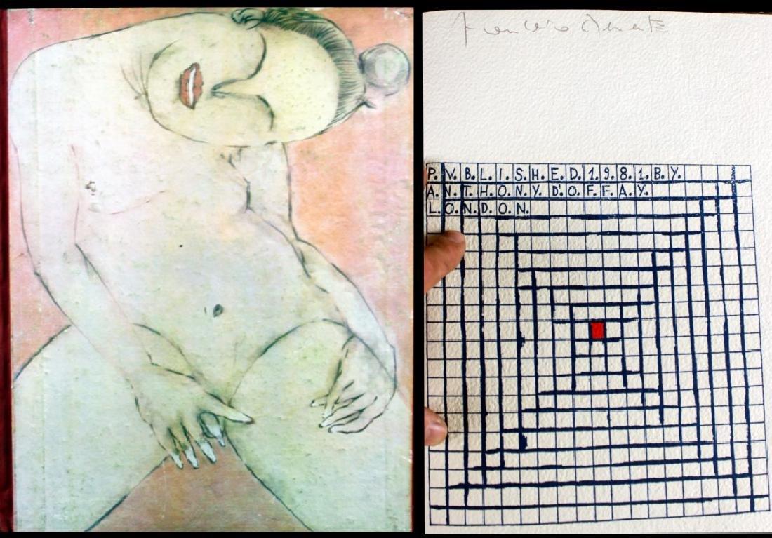 Francesco Clemente Hand made Book Signed 1981