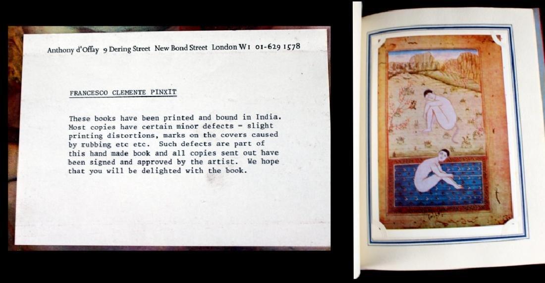 Francesco Clemente Hand made Book Signed 1981 - 3