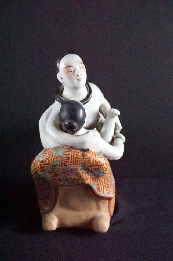 Vintage Asian Chinese Porcelain Erotic Statue - 4