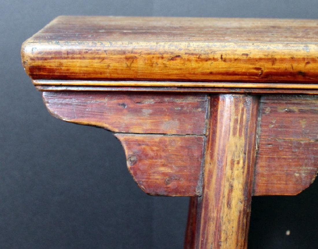 Antique Chinese Wood Bench - 3