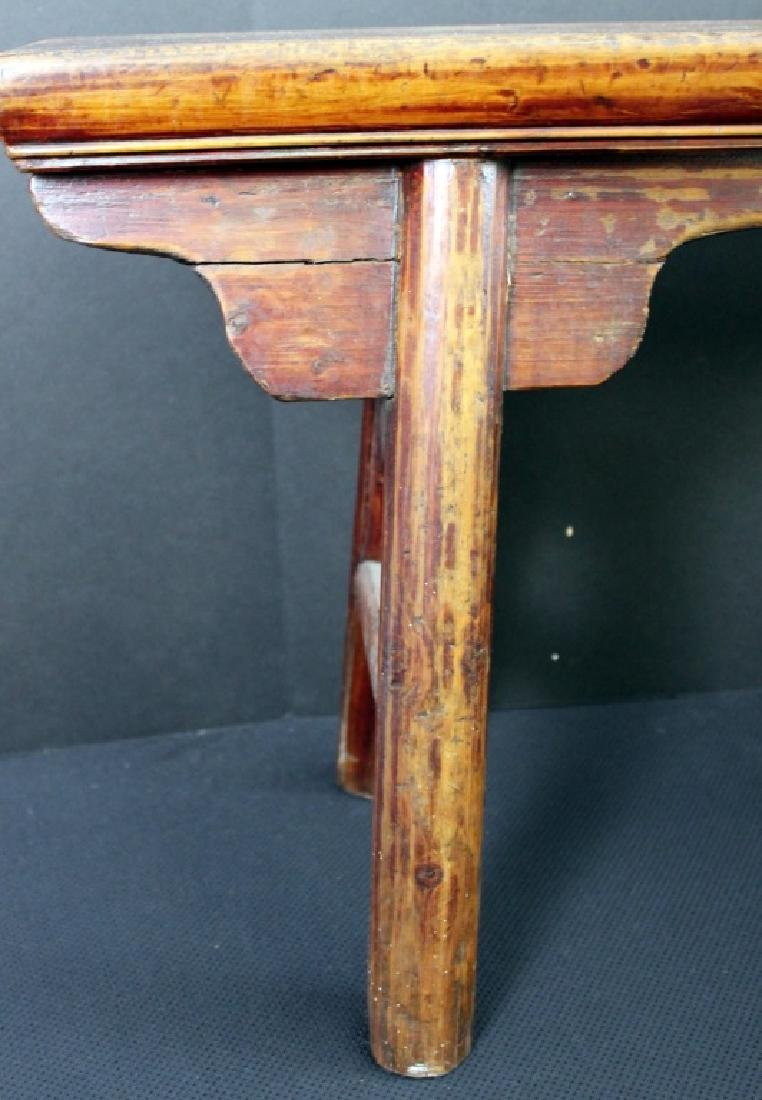 Antique Chinese Wood Bench - 4