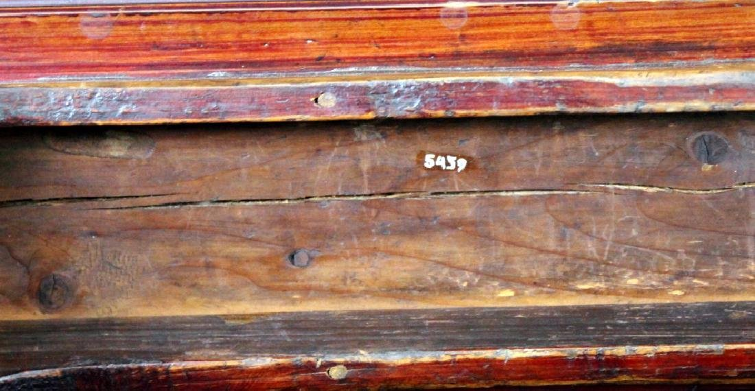 Antique Chinese Wood Bench - 7