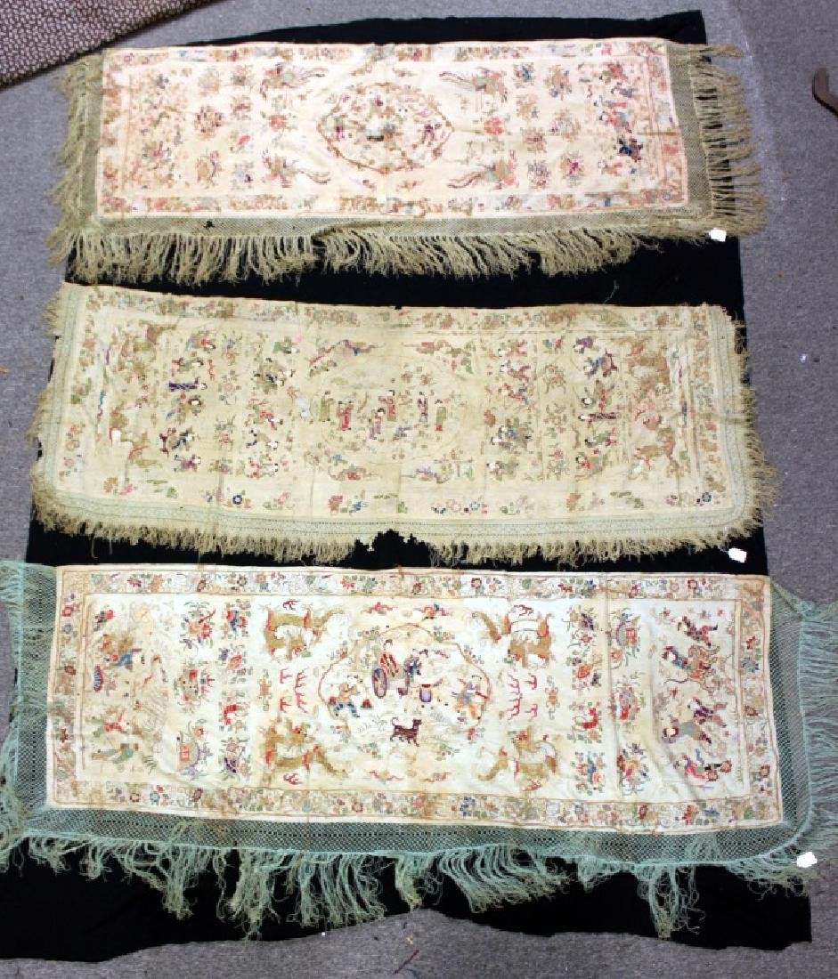 Chinese/Asian Hand Embroidered Shawls