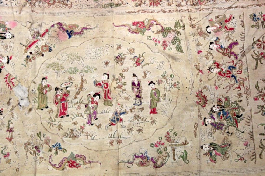 Chinese/Asian Hand Embroidered Shawls - 5