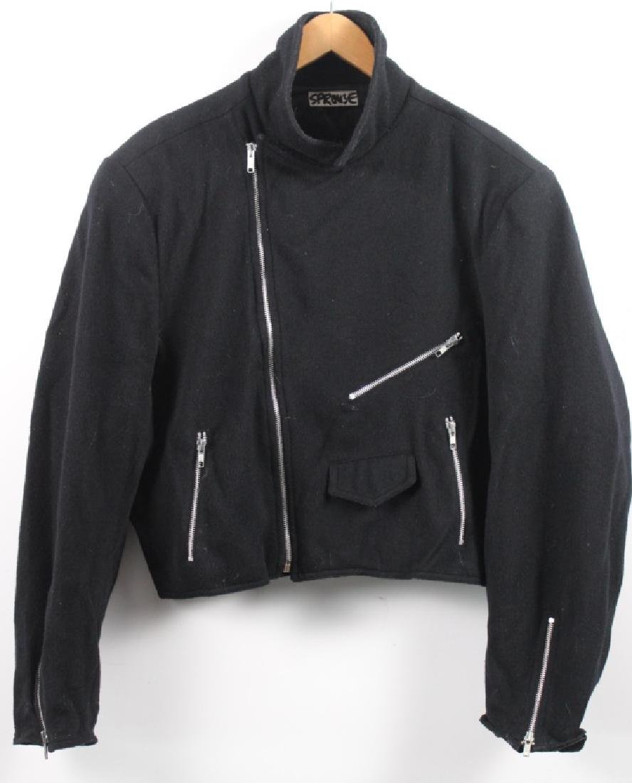 Stephen Sprouse Black Wool Jacket