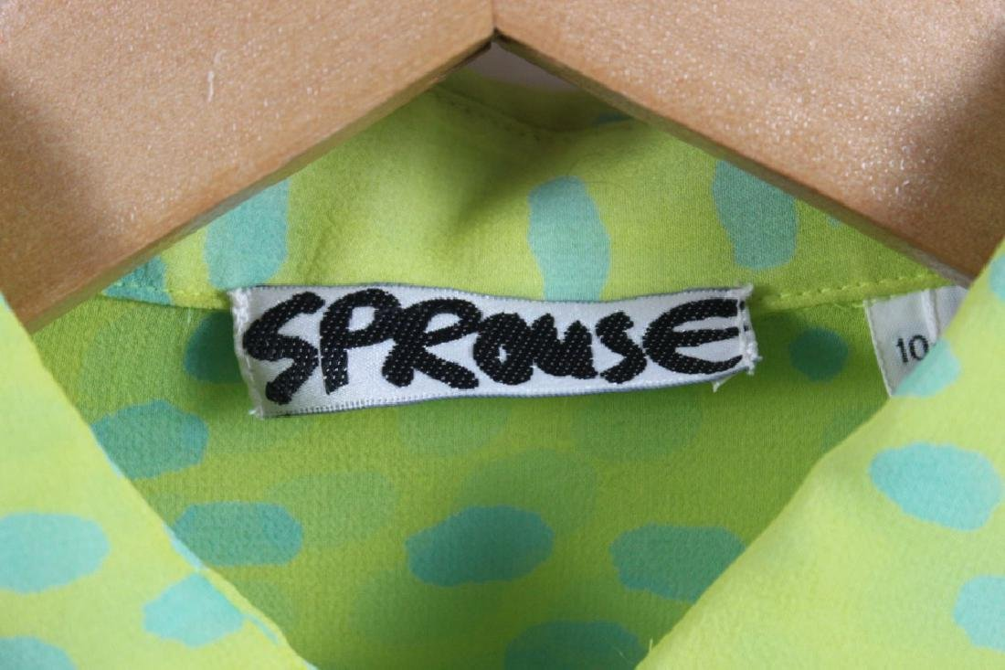 Stephen Sprouse Chartreuse Green Blouse & Pants - 4