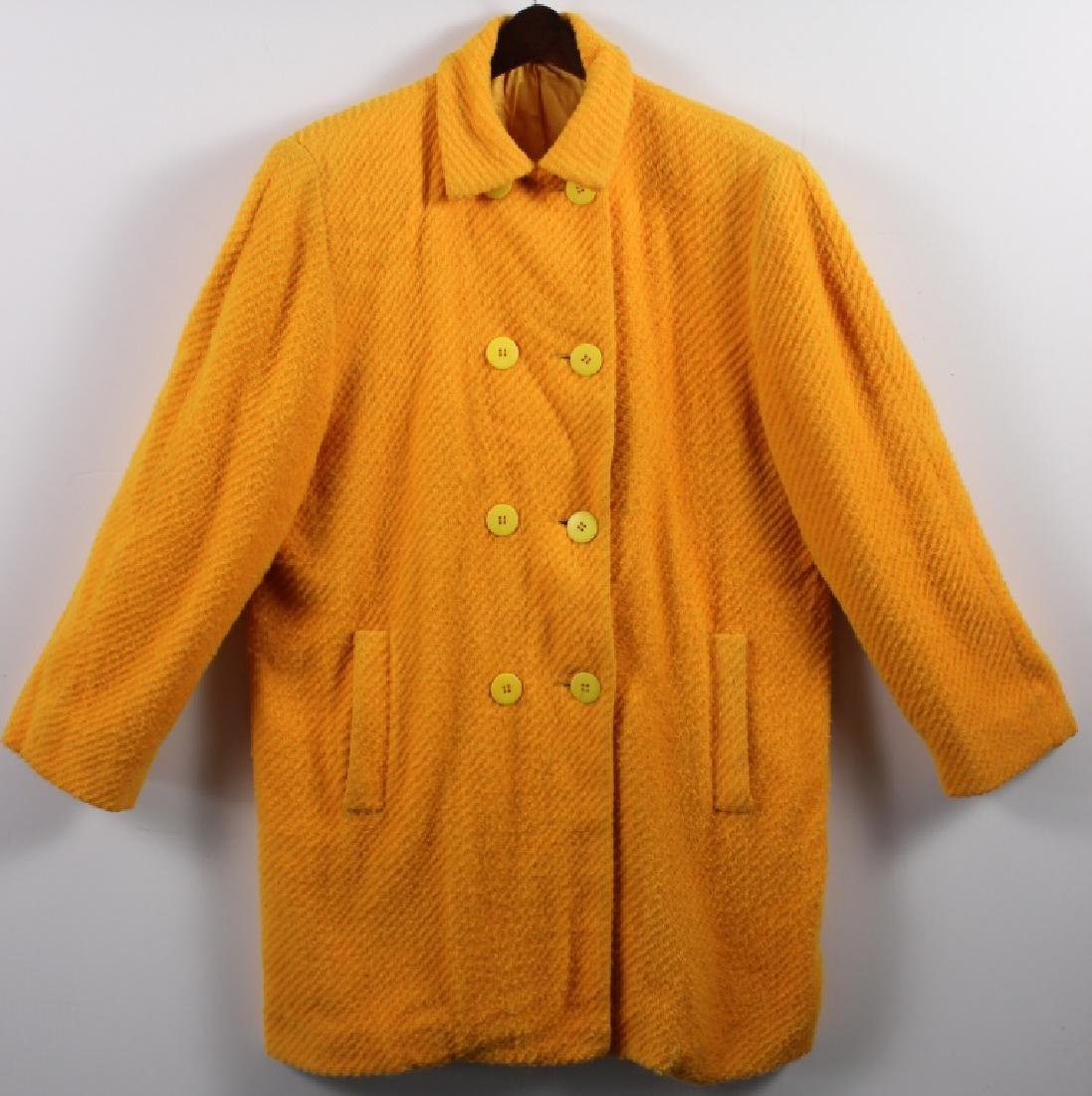 Stephen Sprouse Yellow Double Breasted Coat