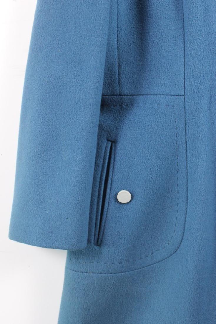 Vintage Lorendale Blue Outer Coat 100% Cashmere - 2