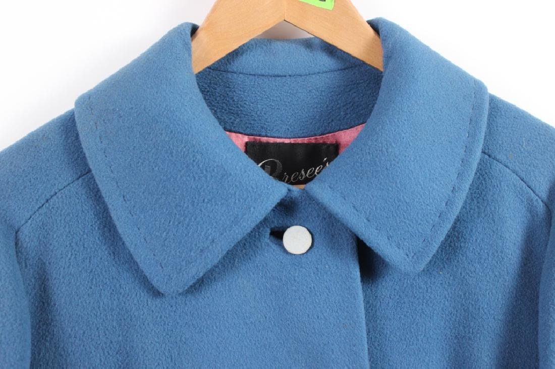 Vintage Lorendale Blue Outer Coat 100% Cashmere - 3