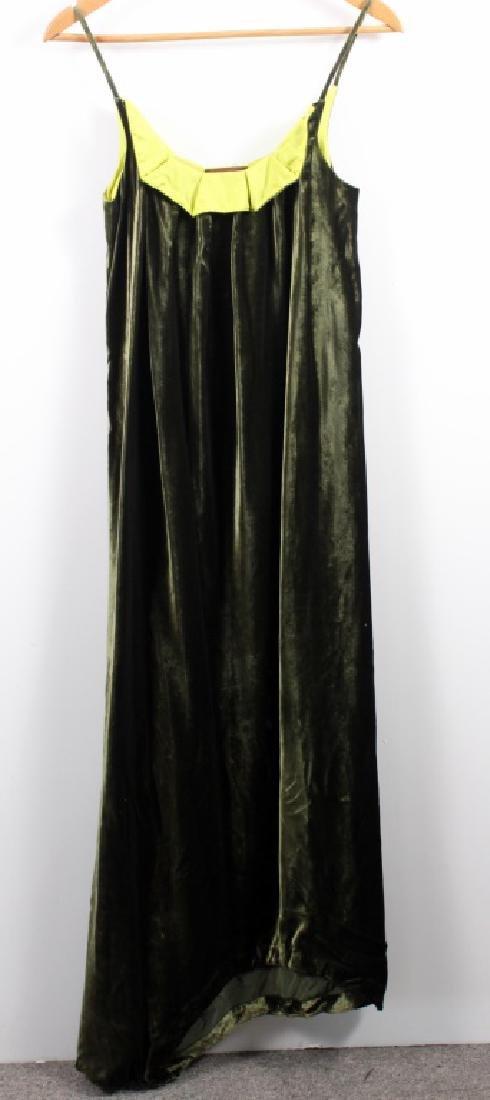 Han Feng Long Velvet Dress