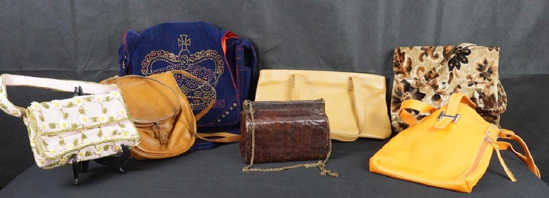 Vintage Purses (7) with 1 Bottega Veneta