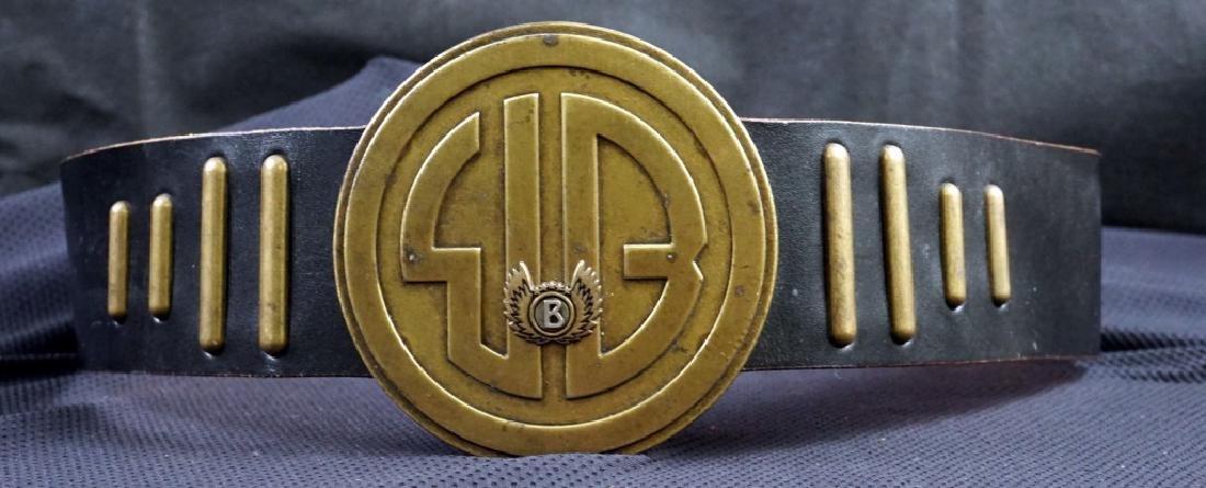Bogner Leather & Brass Belt