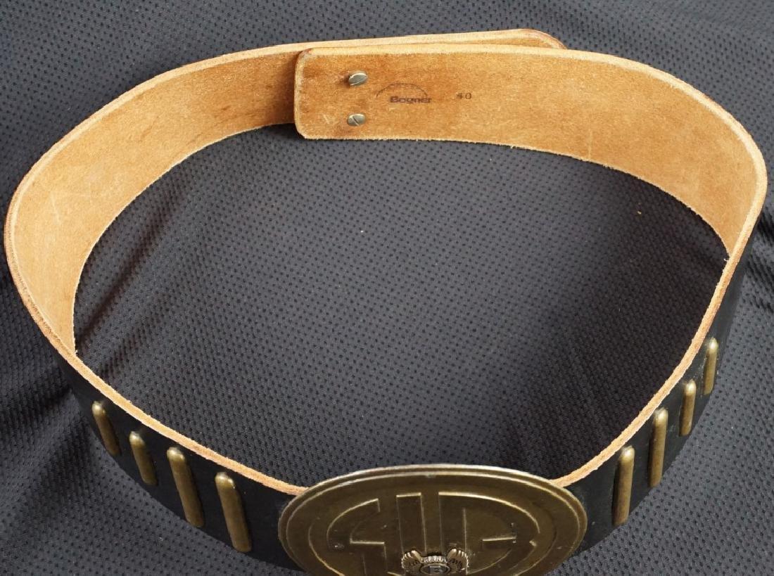 Bogner Leather & Brass Belt - 4