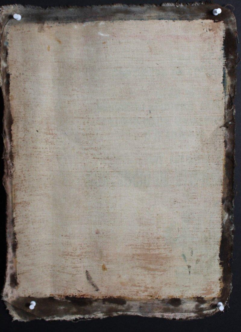 Mary Joseph Christ Child  1800's Oil Painting - 5