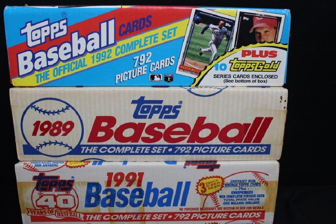 TOPPS Baseball Cards Sets - 3
