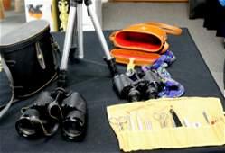 Binoculars (2), Tri-Pod, Pet Grooming Kit
