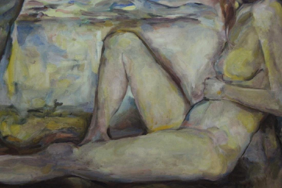 Nudes Signed Oil on Canvas - 4