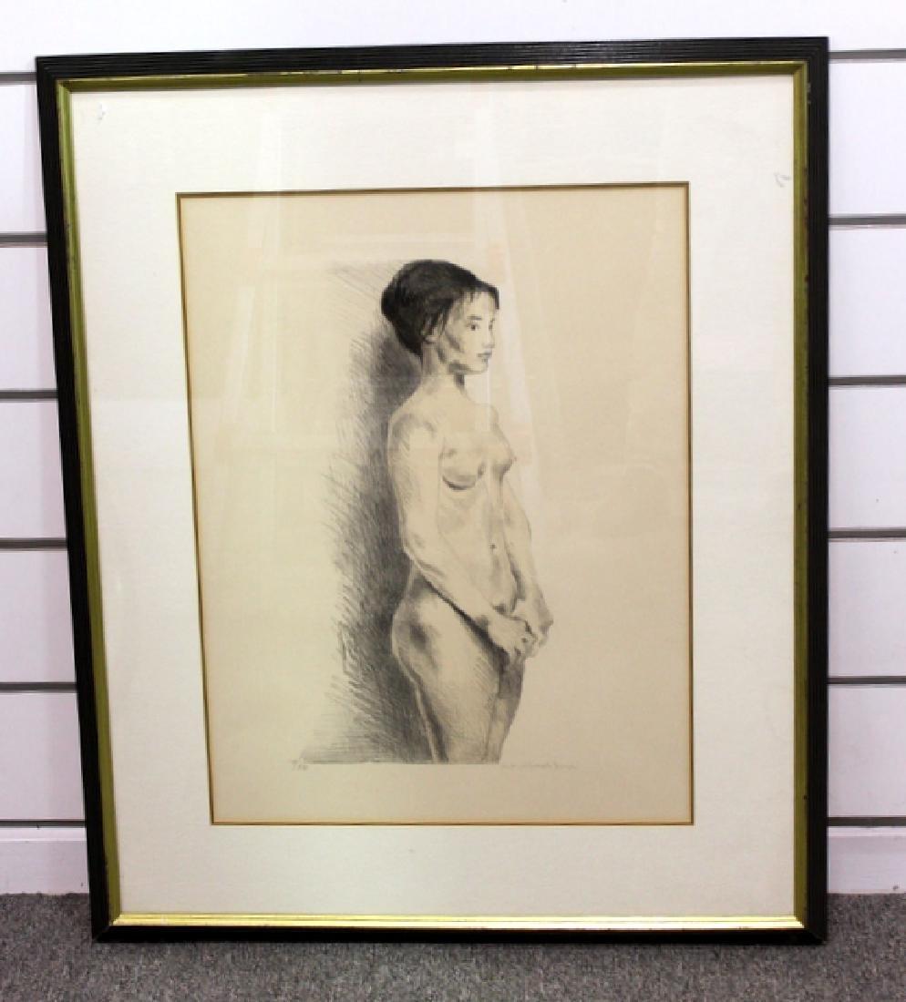 Rafael Soyer  Nude Lithograph