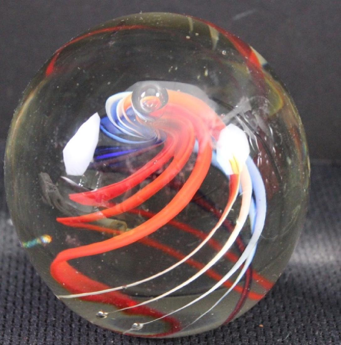 Art Glass, Paperweights - 9 pieces - 2