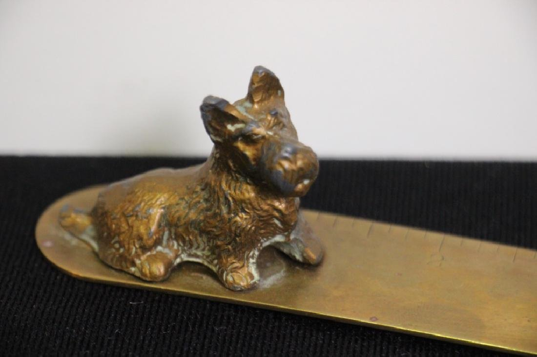 Scottie Dog Brass Letter Opener - 2