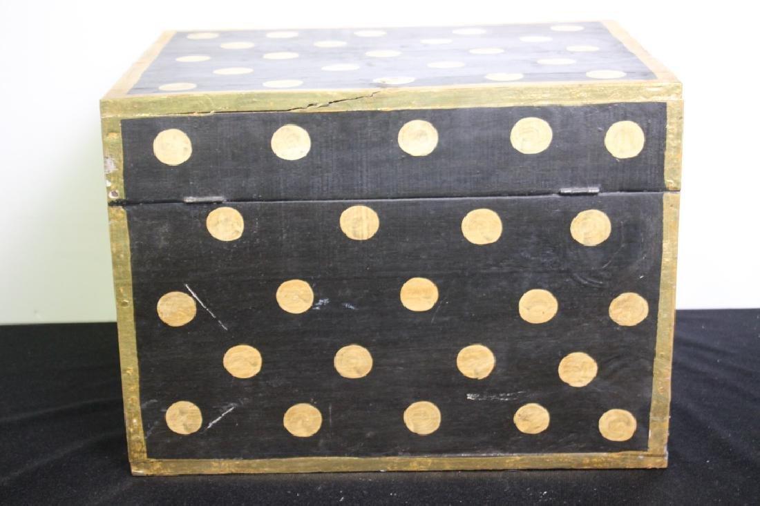 Black Wood Box w/Gold Polkdots - 4