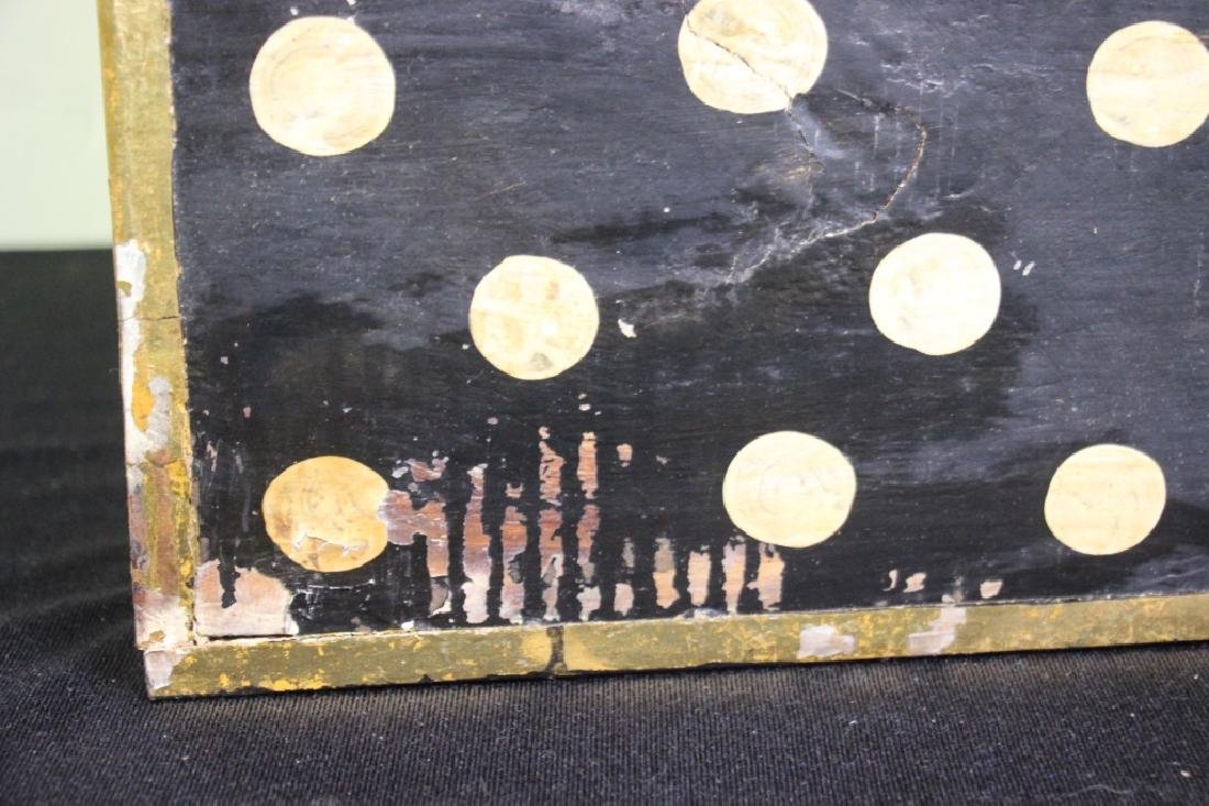 Black Wood Box w/Gold Polkdots - 6