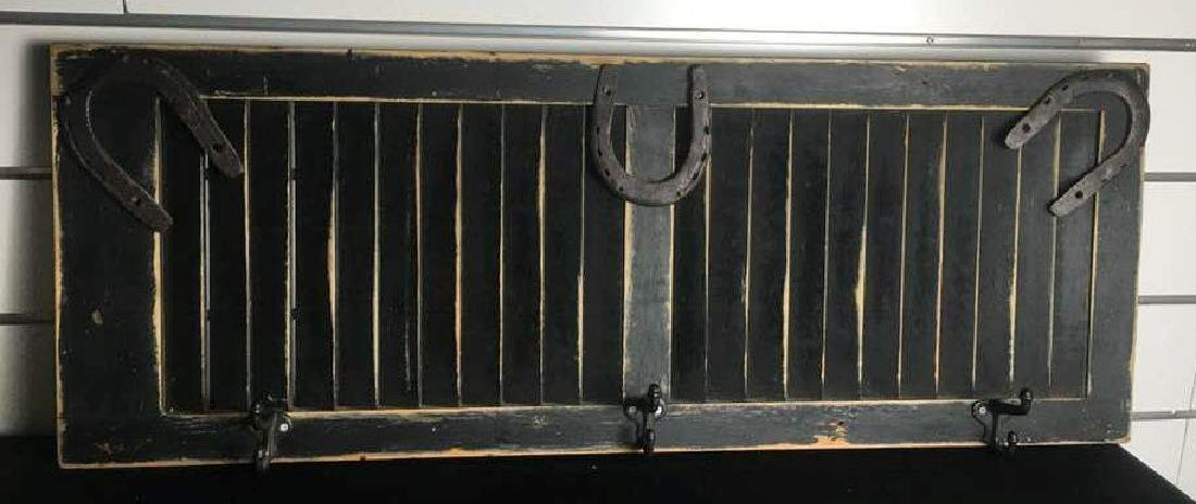 Antique Shutter Coat Rack