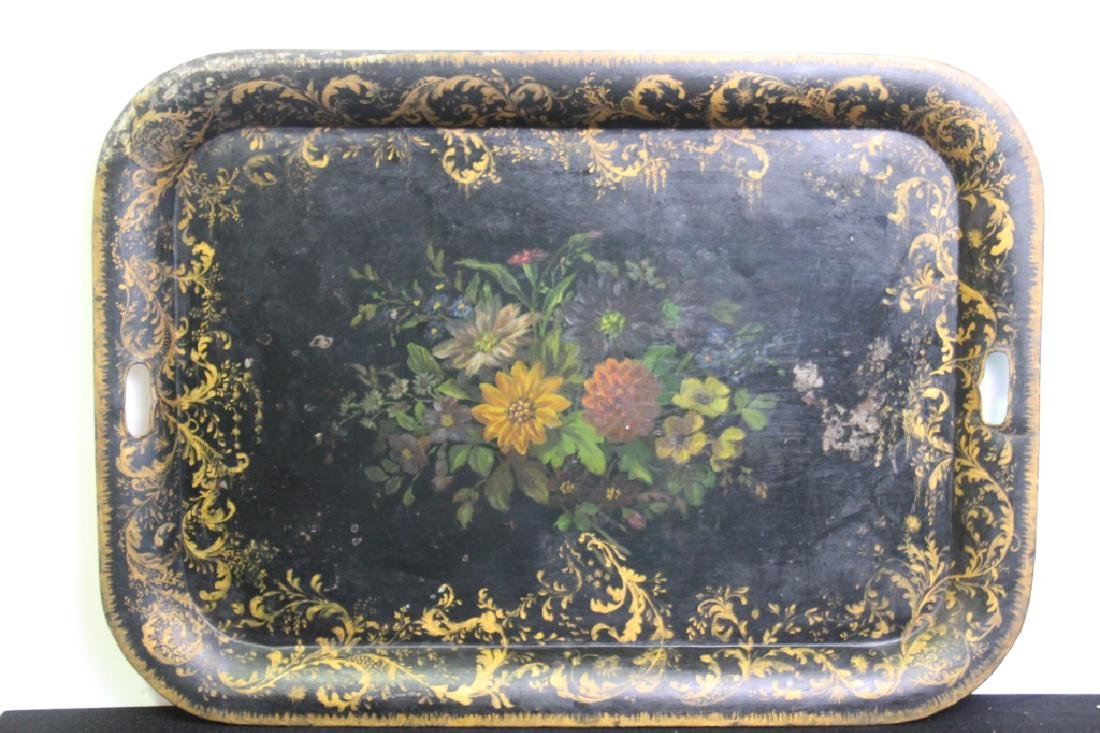 Painted on Metal Tray