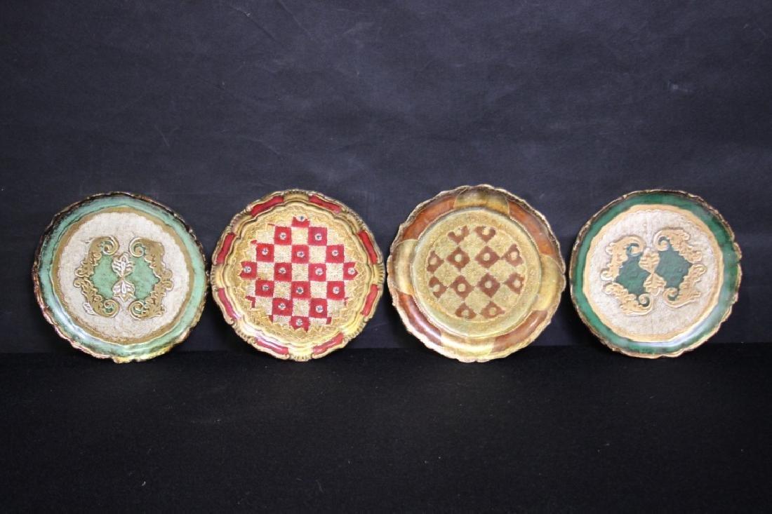 4 Papier Mache Decorative Plates
