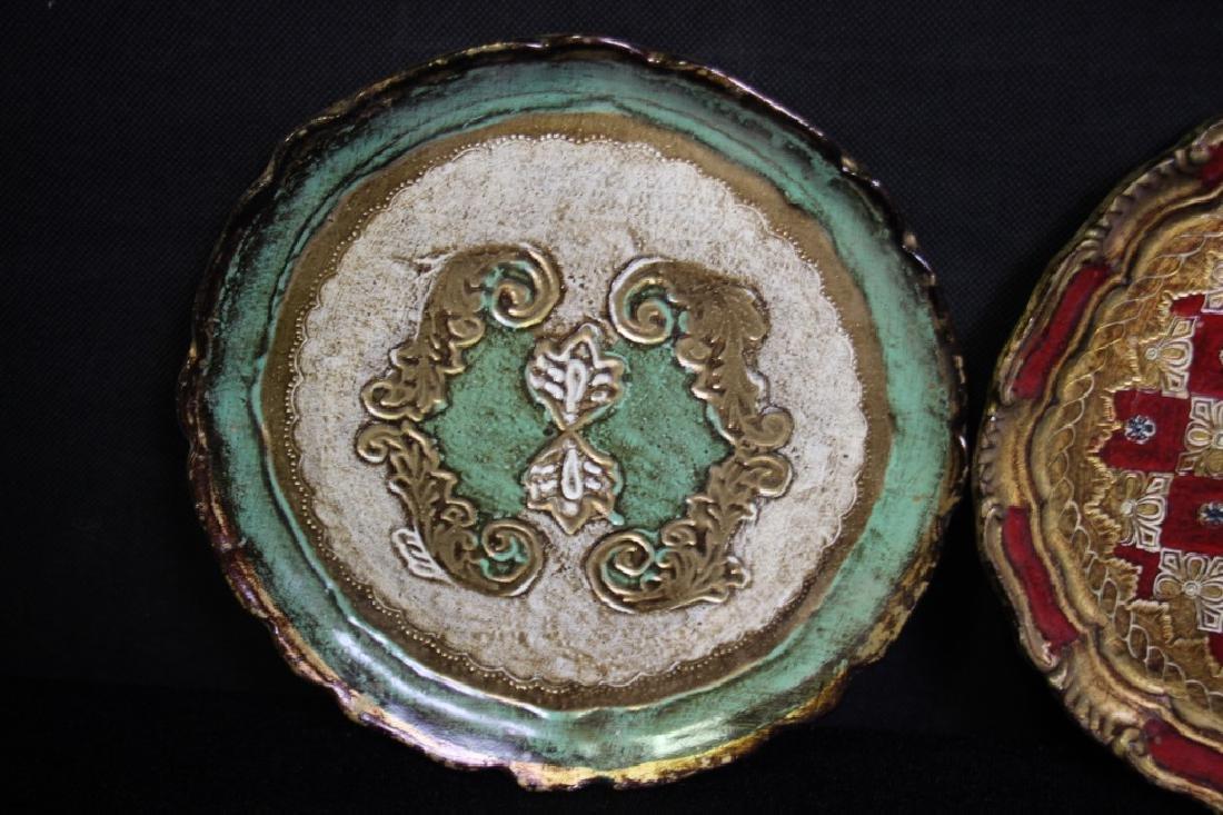 4 Papier Mache Decorative Plates - 2