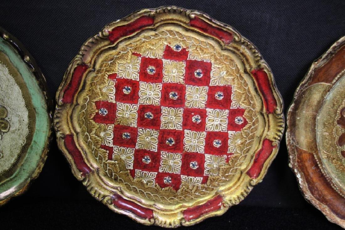 4 Papier Mache Decorative Plates - 3