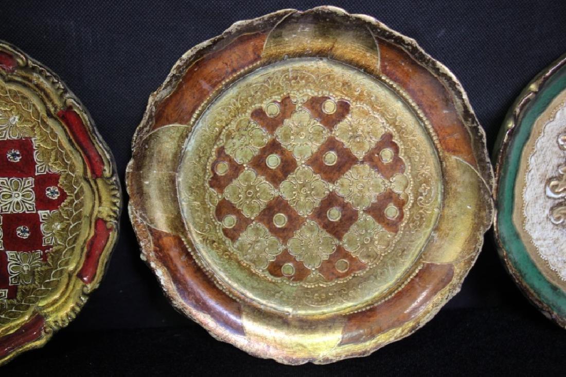 4 Papier Mache Decorative Plates - 4